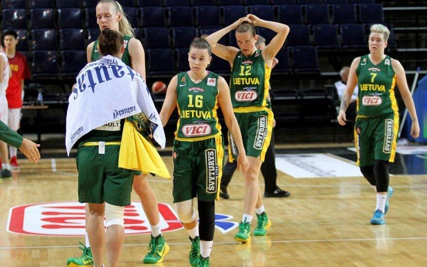 Antra nesėkmė: lietuvės net ir po įspūdingo spurto pralaimėjo slovakėms