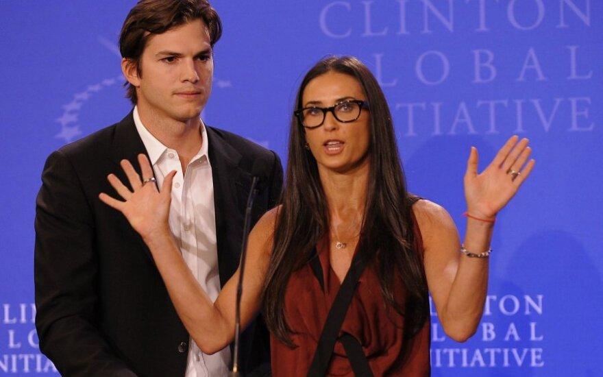 Demi Moore ir Ashtonas Kutcheris