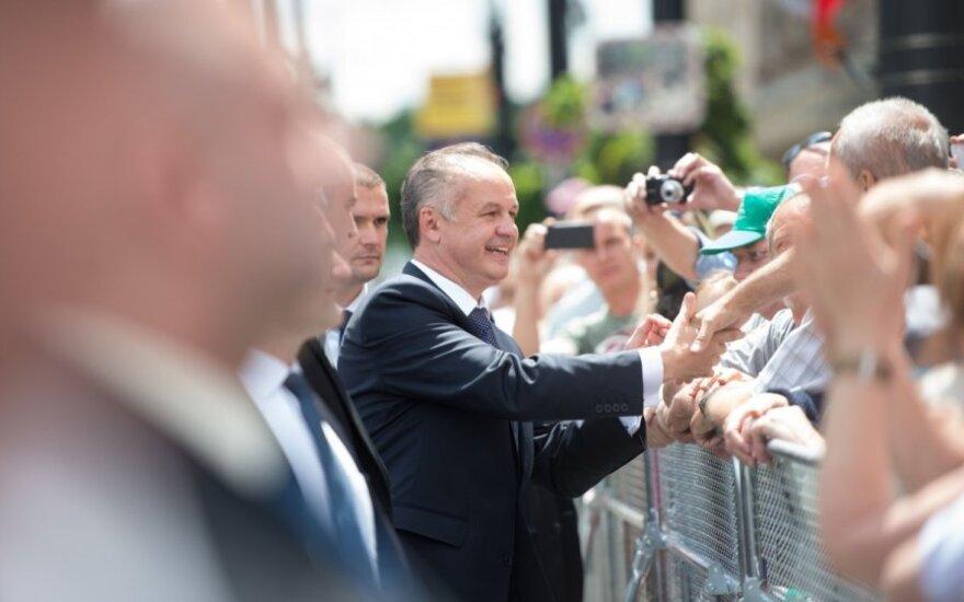 Andrejus Kiska prisaikdintas Slovakijos prezidentu