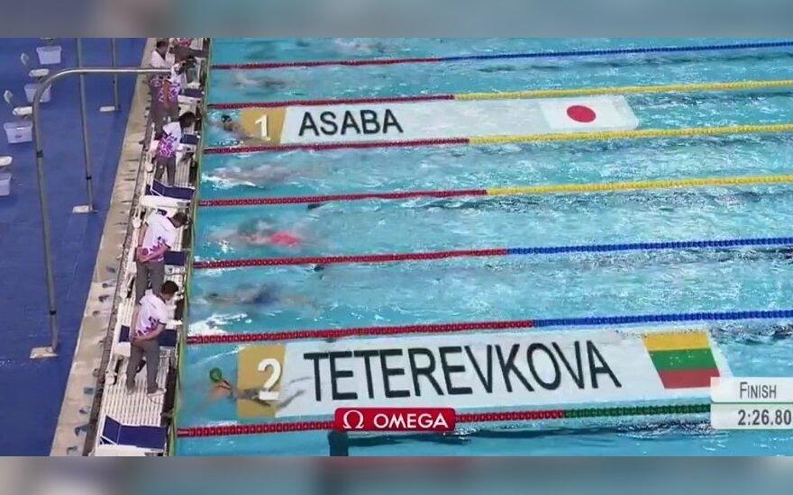 Fantastika: finale aštuntu takeliu plaukusi lietuvė – jaunimo olimpiados vicečempionė