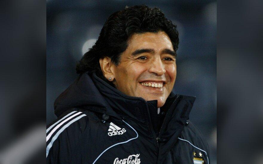 D.Maradona Argentinos rinktinės trenerio poste uždirbs 1,2 mln. JAV dolerių