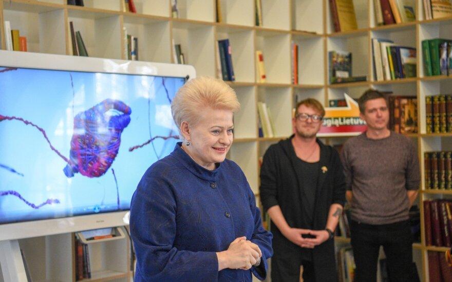 """Dalia Grybauskaitė ir """"Biplan"""" /Foto: Robertas Dačkus / LRPK"""