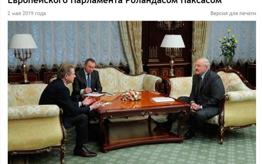 Pašlijus santykiams su Maskva Lukašenka dairosi draugų Lietuvoje: į Minską pasikvietė Paksą