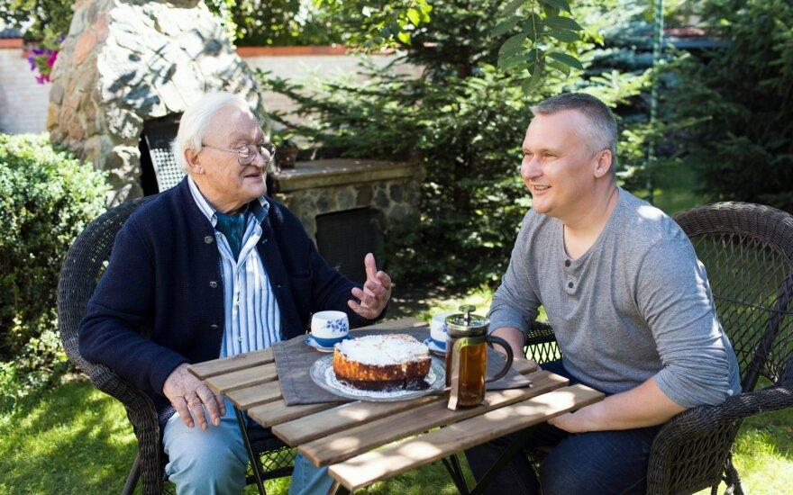 Algimantas Čekuolis su sūnumi Justu FOTO: Monika Dovidaitė