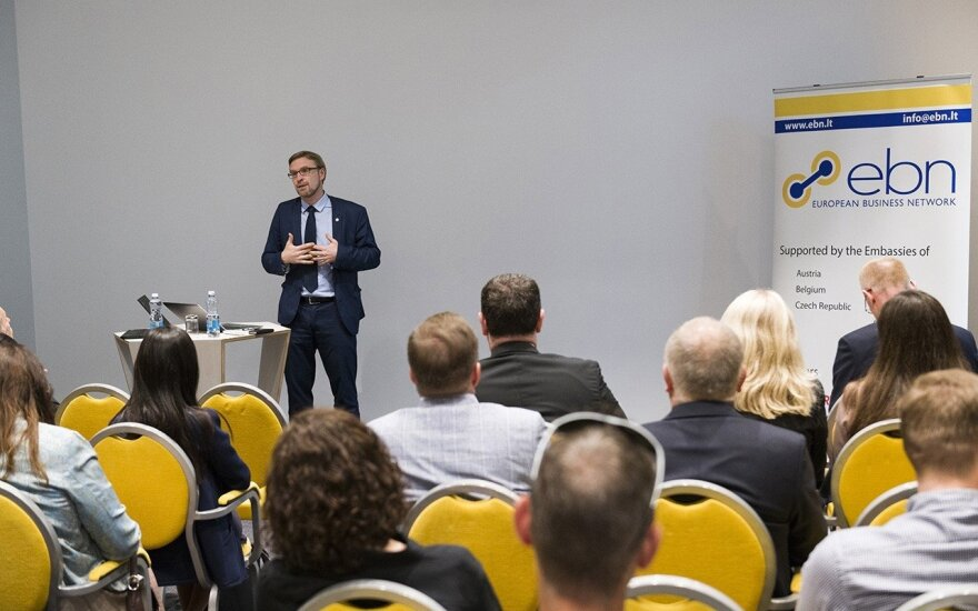Minister Linas Kukuraitis speaking at the EBN event  Photo © Ludo Segers @ The Lithuania Tribune