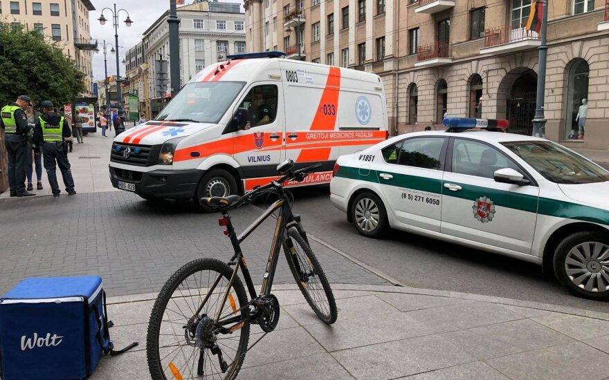 Vilniaus centre įvyko dviejų maisto išvežiotojų susidūrimas