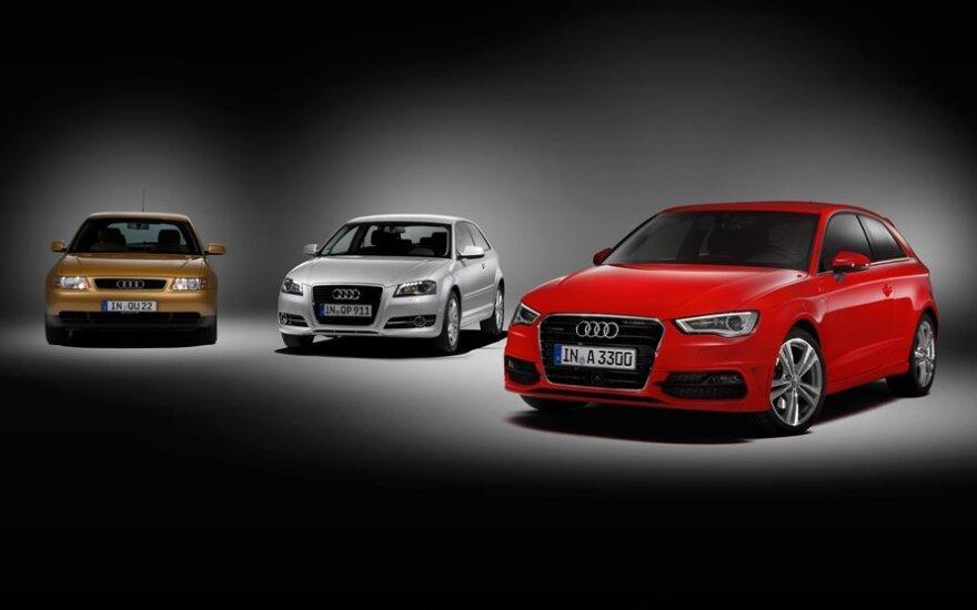 Audi A3 - skirtingų kartų modeliai