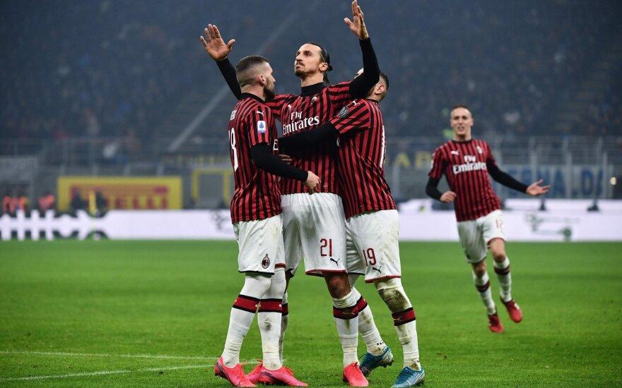 """Milano derbyje Zlatanas juokėsi pirmas, o """"Inter"""" – paskutinis"""