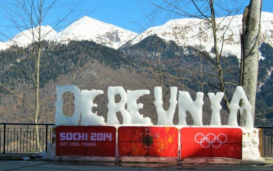 Ledinis kalnų olimpinio kaimelio pavadinimas baigia ištirpti