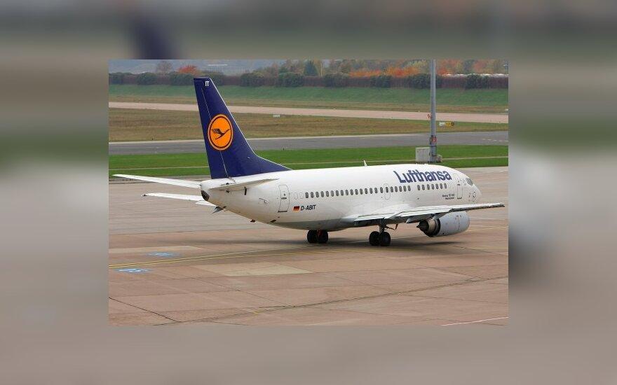 """""""Lufthansa"""" pilotai pradėjo keturių dienų streiką, iš Vilniaus neskris lėktuvas į Frankfurtą"""