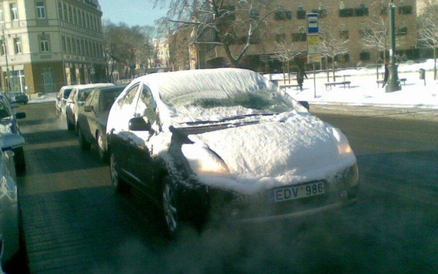 Nenuvalytas automobilis. S.Paukštės nuotr.