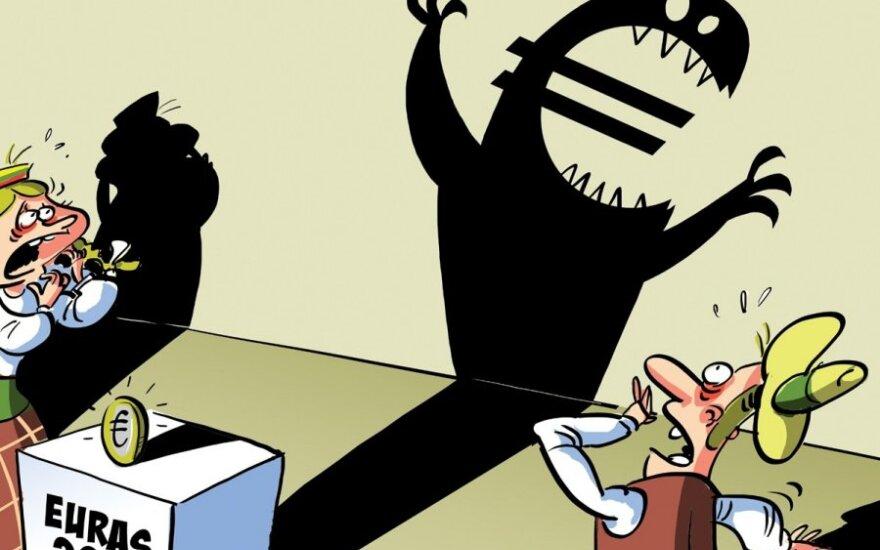 Gyventojai nerimauja dėl padirbtų eurų