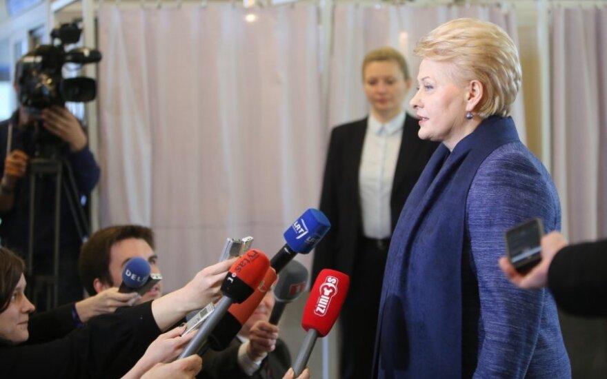 D. Grybauskaitė nebetyli: neturiu tokių galimybių