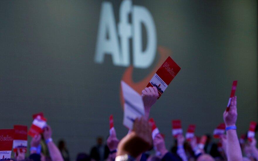 AfD partijos suvažiavimas Augsburge