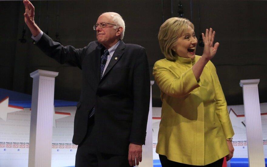 Bernie Sandersas, Hillary Clinton