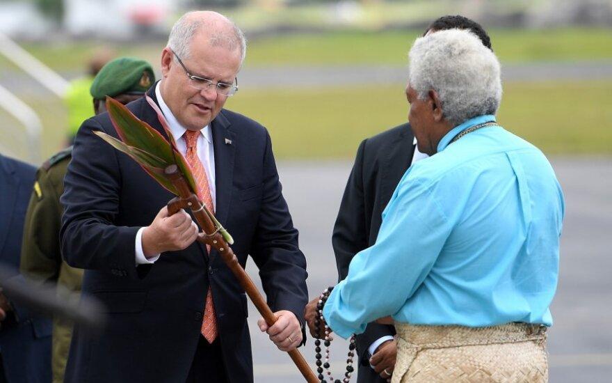 Scottas Morrisonas atvyko į Vanuatu