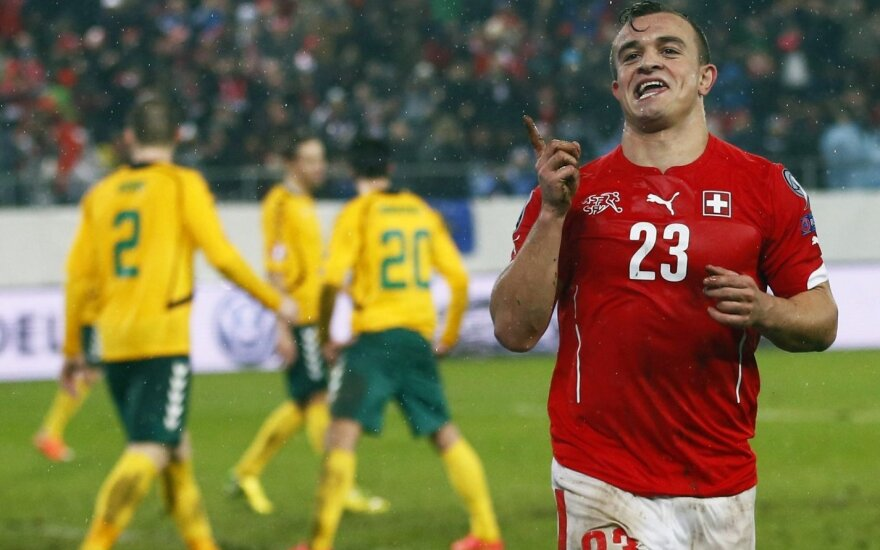Lietuvos ir Šveicarijos futbolininkų akistata