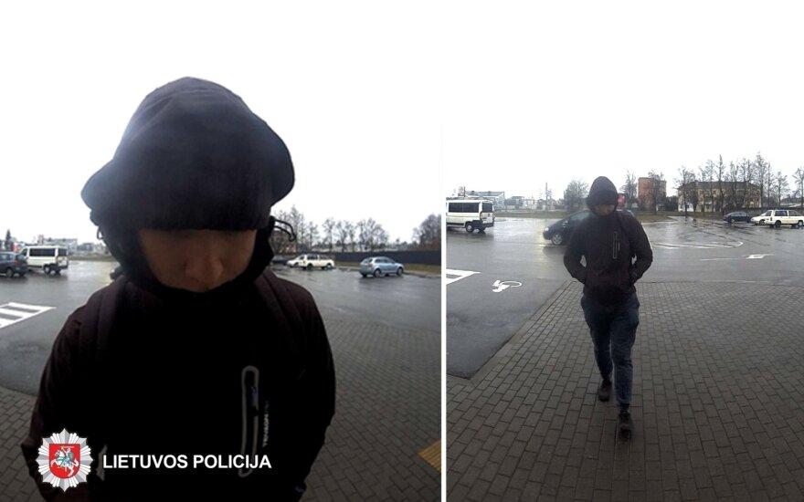 Panevėžio policija prašo visuomenės pagalbos: ieškomas vagyste įtariamas vyras