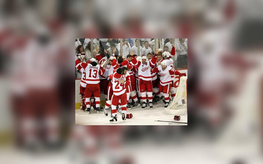 "Detroito ""Red Wings"" ledo ritulininkai - NHL čempionai"