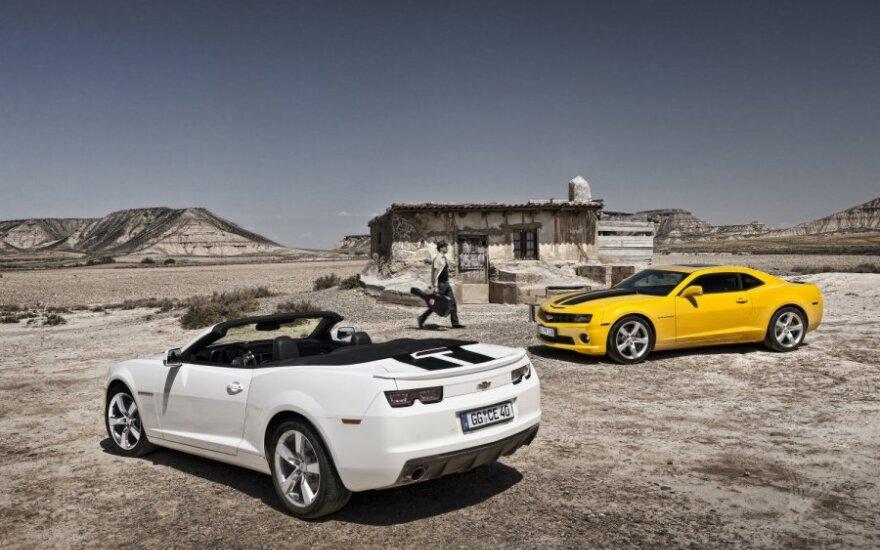 Chevrolet Camaro kabrioletas ir kupė