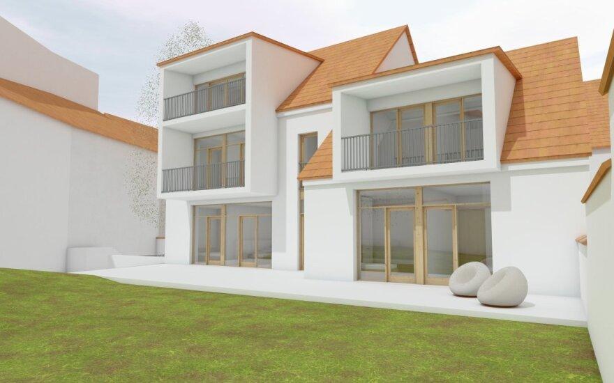 Vilniaus senamiestyje esantį ūkinį pastatą ketina rekonstruoti į daugiabutį namą