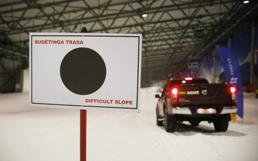 Visureigiai pravažumo egzaminą laikė sniego kalne