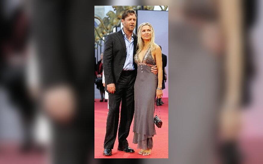 Russel Crowe su žmona Danielle Spencer