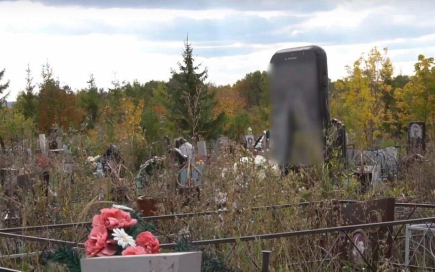Neįprastą antkapį Rusijos kapinėse pamatęs vyras: maniau, kad man vaidenasi