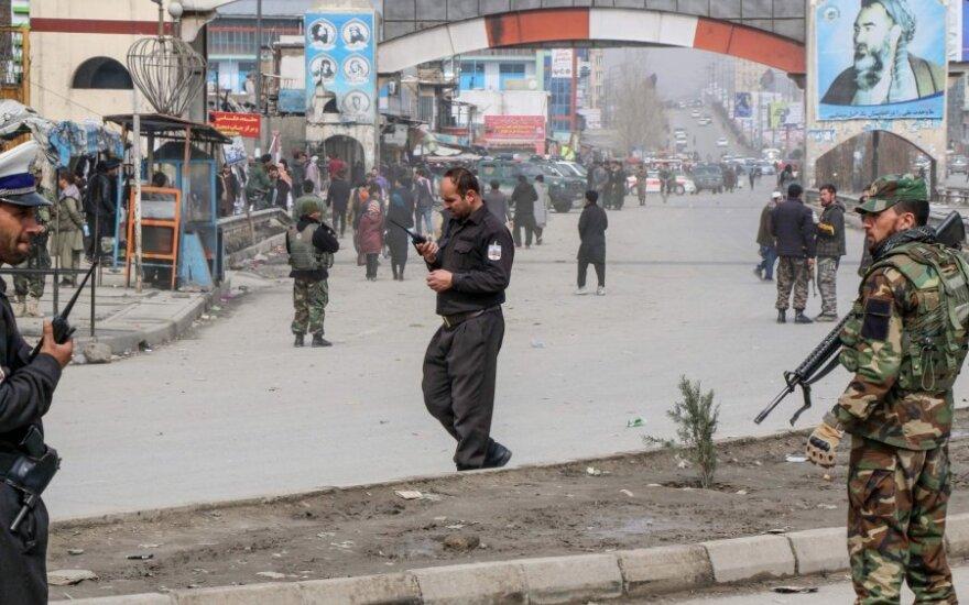 Per ceremoniją, kurioje dalyvavo Afganistno premjeras, kilo šaudynės