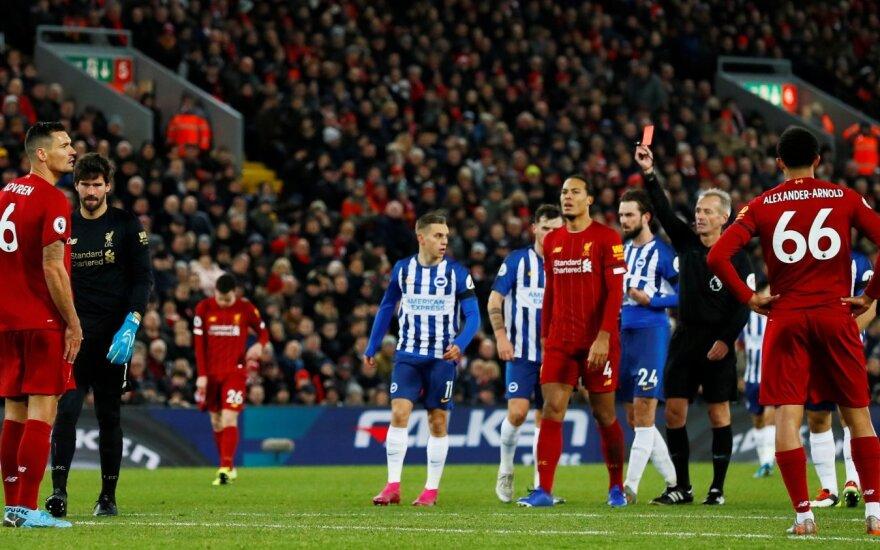 """""""Liverpool"""" didina atotrūkį – """"Man City"""" ir """"Chelsea"""" barstė taškus"""