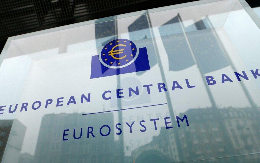 ECB atkreipia dėmesį į nerimą dėl prekybos karo