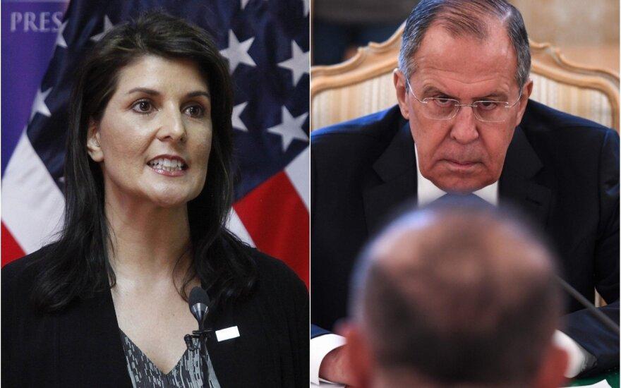 Įtampa Sirijoje auga: JAV ir Rusija svaidosi grasinimais