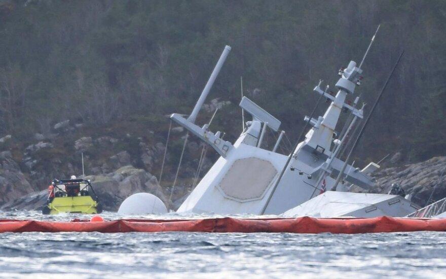 Su tanklaiviu susidūrusi norvegų fregata nuskendo