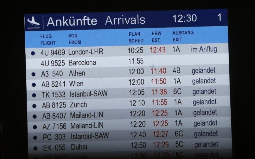 """Po katastrofos """"Lufthansa"""" įveda naujas taisykles"""