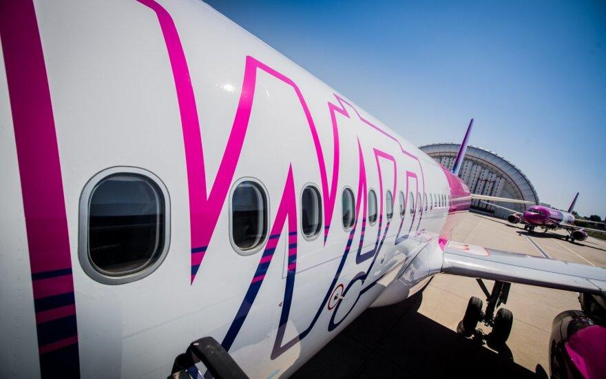 """""""Wizz Air"""" planuoja patrigubinti savo lėktuvų parką iki 2026 metų"""