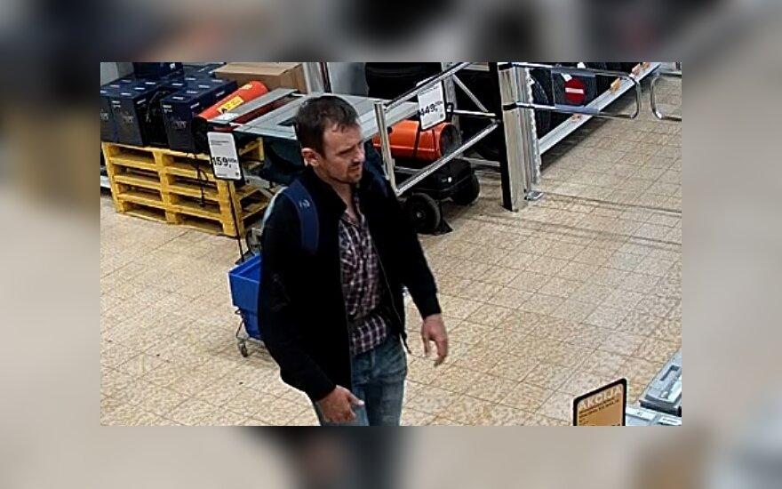 Pareigūnai prašo visuomenės pagalbos: ieškomas vagystėmis įtariamas vyras