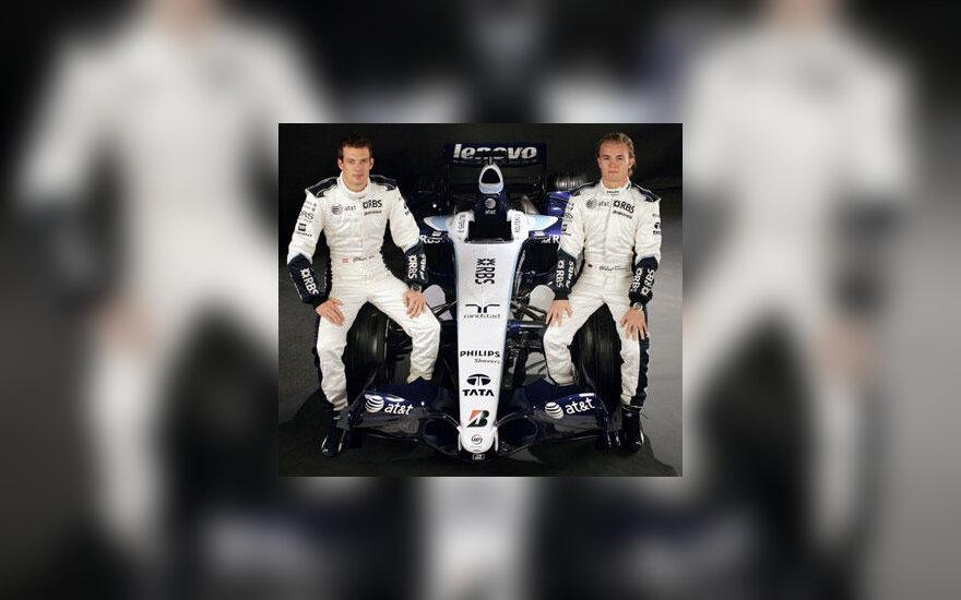 """Alexanderis Wurzas ir Nico Rosbergas pristato """"Williams FW29"""" bolidą"""