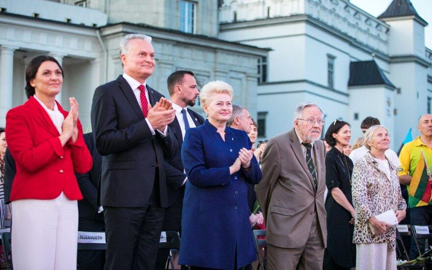 Diana Nausėdienė, Gitanas Nausėda, Dalia Grybauskaitė, Vytautas Landsbergis