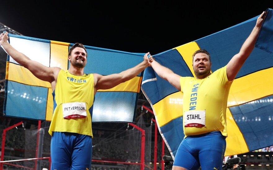 Švedijos disko metikai Danielis Stahlis ir Simonas Petterssonas