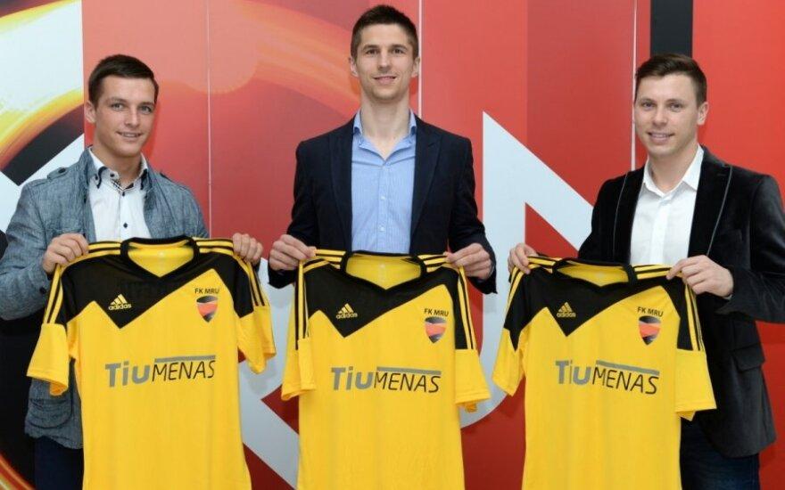 FK MRU futbolininkai (FK MRU/V.Gelumbausko nuotr.)