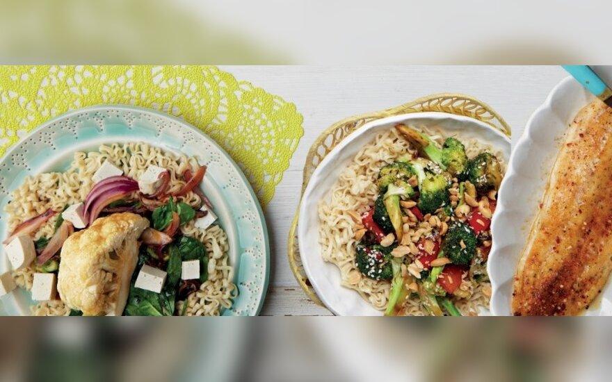 Žaliųjų citrinų prieskoniais pagardinta žuvis su brokolių salotomis