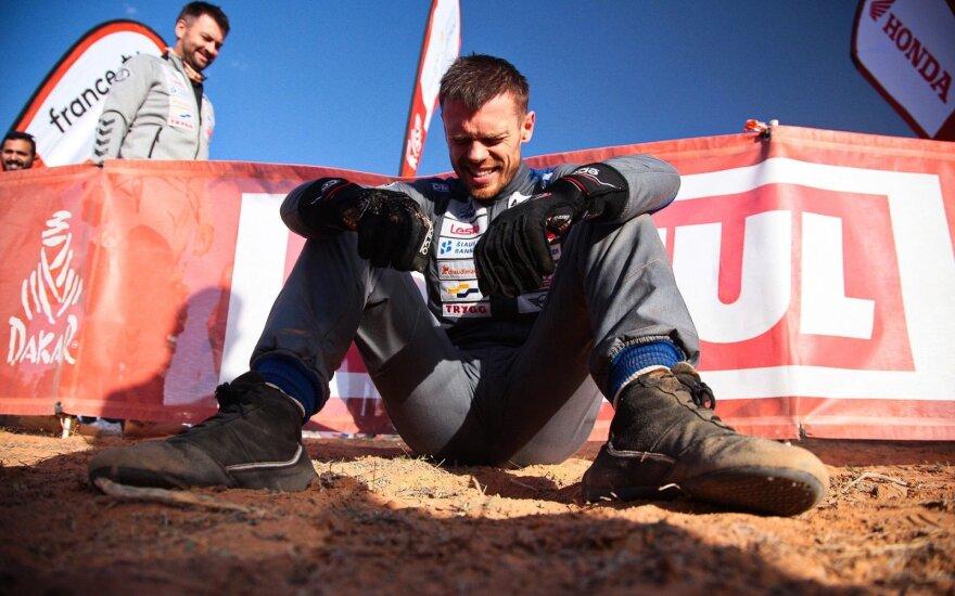 Vaidotas Žala po 6-osios Dakaro dienos finišo