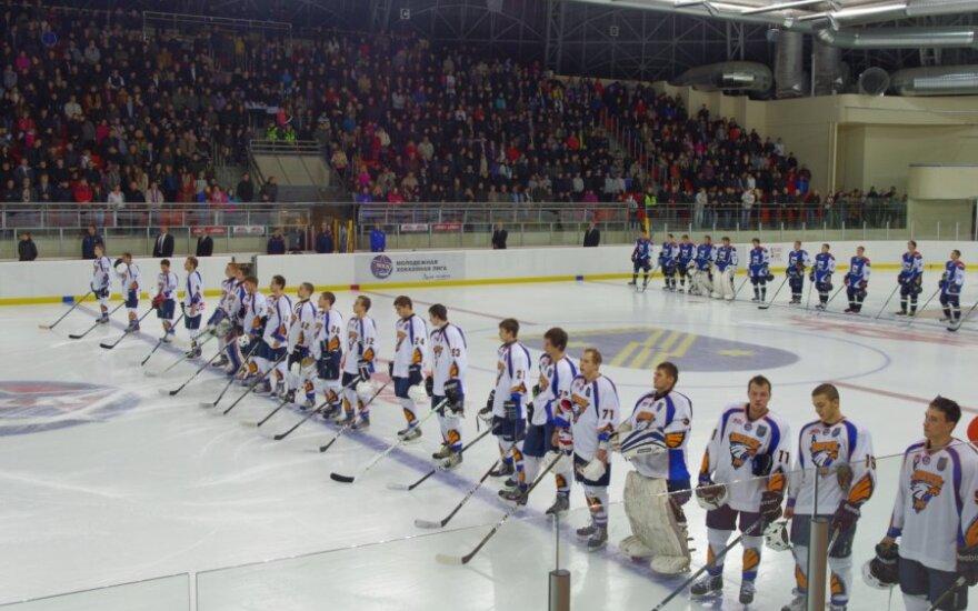 "Vilniaus ""HC Baltica"" klubas prieš rungtynes"
