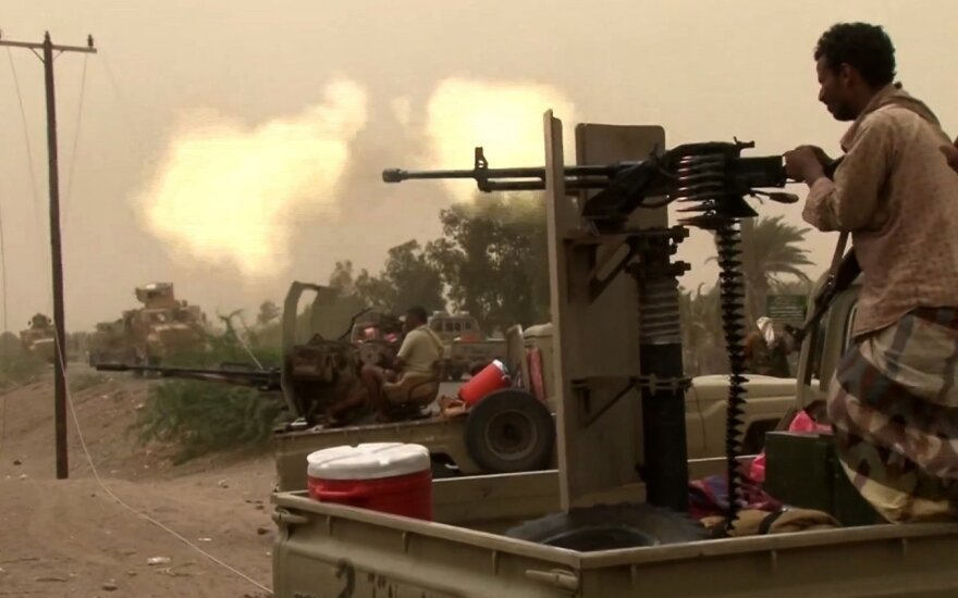 Jemeno sukilėlių ataka prie Chudaidos pareikalavo 12 karių gyvybių