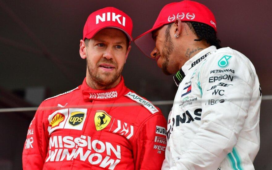Sebastianas Vettelis, Lewisas Hamiltonas