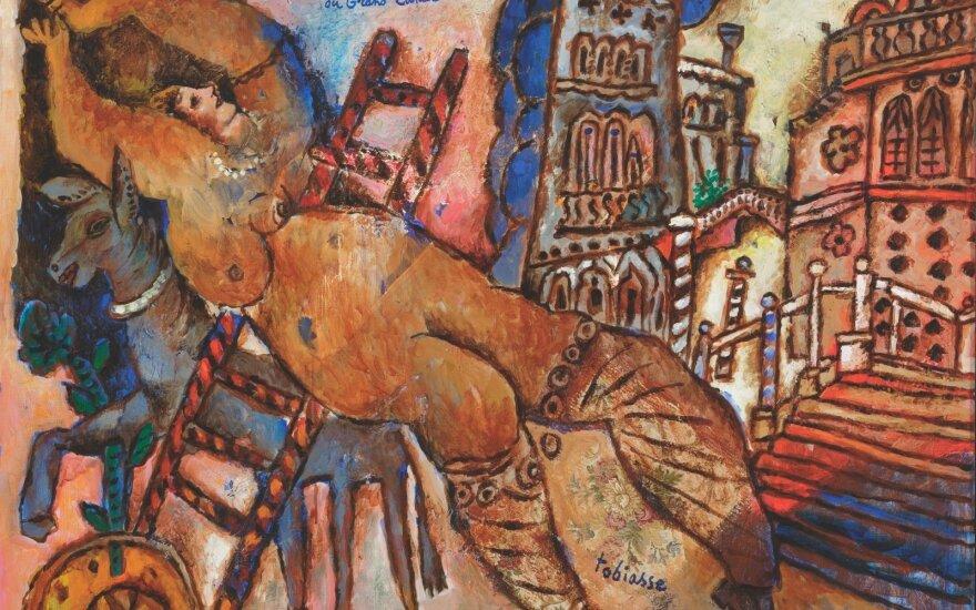 """Theo Tobiasse. Didžiojo kanalo odaliska. Drobė, aliejus. 89x116 cm. """"Lewben Art Foundation"""" kolekcija"""