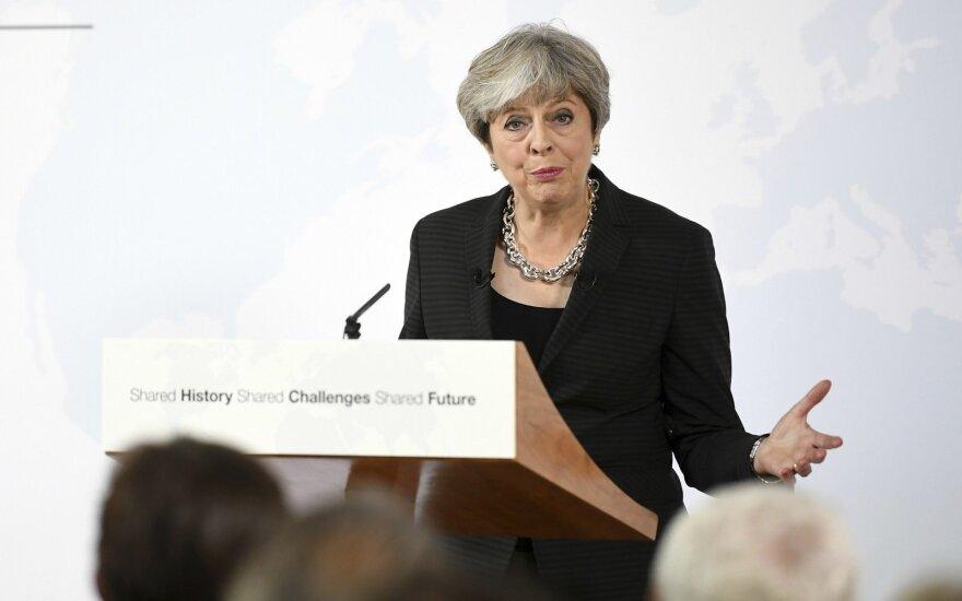 """Po britų premjerės kalbos """"Brexit"""" derybose bus siekiama didesnio aiškumo"""