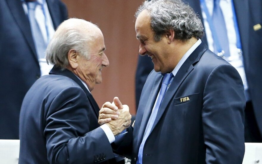 Seppas Blatteris ir  Michelis Platini