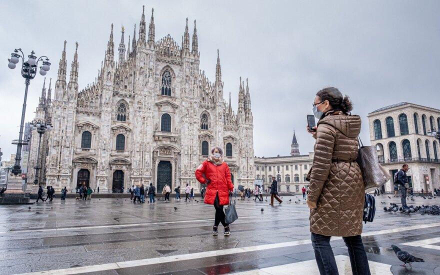 Lietuvos URM rekomenduoja nevykti į Italiją dėl koronaviruso rizikos