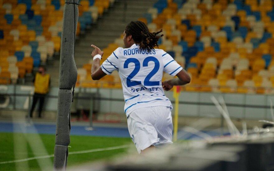 Gersonas Rodriguesas džiaugiasi įvarčiu
